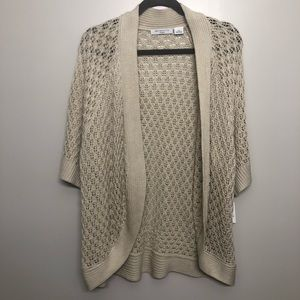 Liz Claiborne knit cardigan Cream NWT